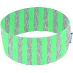 Stretch jersey headband  rayé fluo vert h4 - PPMC