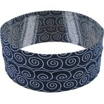 Stretch jersey headband  arabesque marine e7 - PPMC