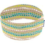 Stretch jersey headband  bulles turquoise - PPMC