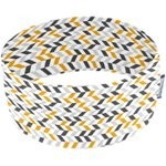 Stretch jersey headband  chevrons gris jaune - PPMC