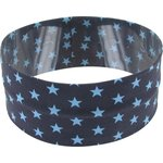 Stretch jersey headband  etoiles gris ciel d7 - PPMC