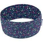 Stretch jersey headband  moucheté fuchsia bleu - PPMC