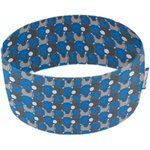 Stretch jersey headband  ronds bleus gris d6 - PPMC