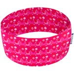 Stretch jersey headband  ronds fuchsia rouge - PPMC
