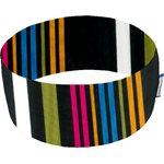 Stretch jersey headband  j rayé noir fuchsia jaune - PPMC