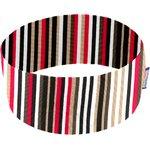 Bandeaux jersey rayé noir blanc brique d1 - PPMC