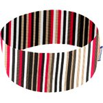Stretch jersey headband  rayé noir blanc brique d1 - PPMC