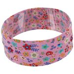 Stretch jersey headband  oiseaux rose g1 - PPMC