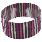 Stretch jersey headband  rayé noir gris prune e1 - PPMC