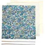 Kit Masque Barrière exd fleuri bleu - PPMC