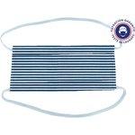 Masque Tissu Enfant ligne blanc marine ex1001 - PPMC