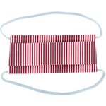 Child Mask ligne verticale blanc rouge - PPMC
