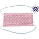Masque Tissu Enfant pastille blanc rose ex999 - PPMC