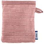 Guante Desmaquillante gasa lurex rosa polvoriento - PPMC