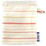 Make-up Remover Glove silver pink striped - PPMC