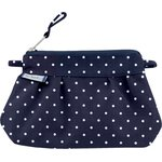 Mini Pleated clutch bag navy blue spots - PPMC