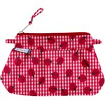 Mini Pleated clutch bag ladybird gingham - PPMC