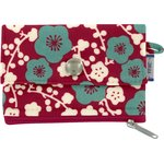 zipper pouch card purse ruby cherry tree - PPMC