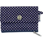 zipper pouch card purse etoile marine or - PPMC