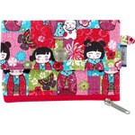 zipper pouch card purse kokeshis - PPMC