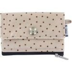 zipper pouch card purse pink coppers spots - PPMC