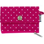 zipper pouch card purse fuschia spots - PPMC