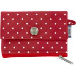 zipper pouch card purse red spots - PPMC