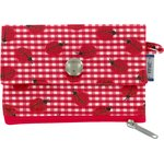 zipper pouch card purse ladybird gingham - PPMC