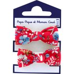 Small elastic bows cherry cornflower - PPMC