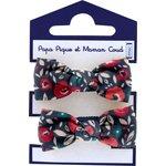 Small elastic bows camelias rubis - PPMC