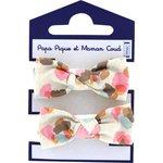 Small elastic bows confetti aqua - PPMC