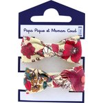 Small elastic bows poppy - PPMC