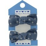 Small elastic bows etoile argent jean - PPMC