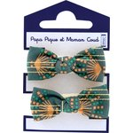 Small elastic bows eventail or vert - PPMC