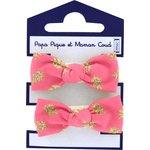 Gomas de pelo con lazos feuillage or rose - PPMC