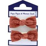 Small elastic bows lurex terracotta gauze - PPMC