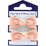 Mousse petit noeud gaze rose - PPMC