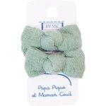 Mousse petit noeud gaze vert sauge - PPMC