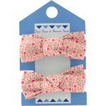 Small elastic bows mini pink flower - PPMC