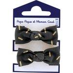 Mousse petit noeud  paille dorée noir - PPMC