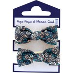 Small elastic bows paquerette marine - PPMC