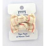 Mousse petit noeud rayé rose argent - PPMC