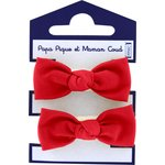Small elastic bows tangerine red - PPMC