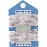 Small elastic bows gray copper triangle - PPMC
