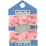 Small elastic bows powdered gold triangle - PPMC