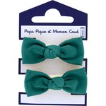 Small elastic bows emerald green - PPMC