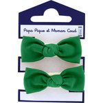 Small elastic bows bright green - PPMC