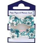 Small elastic bows celadon violette - PPMC