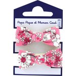 Small elastic bows pink violette - PPMC