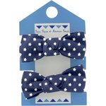 Small elastic bows navy gold star - PPMC